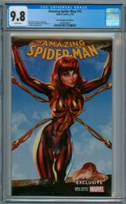 Amazing Spider-man #15 J. Scott Campbell Sketch MJ Variant CGC 9.8 Marvel comic book